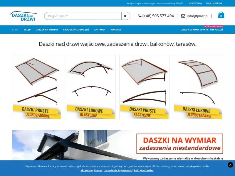 TPLAST Daszki nad drzwi