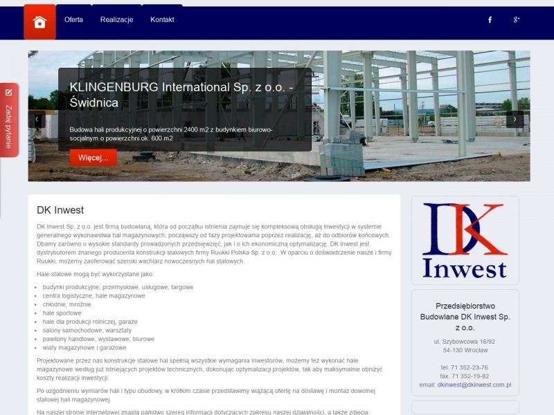 DK Inwest - Producent Hal Magazynowych
