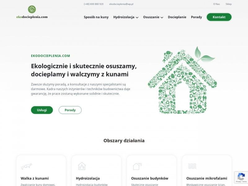 Osuszanie budynków Kraków – Ekodocieplenia