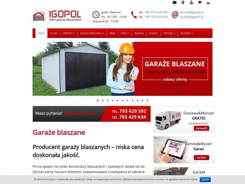 IGOPOL- GARAŻE BLASZANE