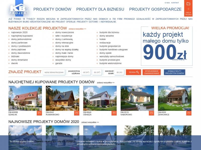 Projekty domów KB Projekt. Biuro Architektoniczne