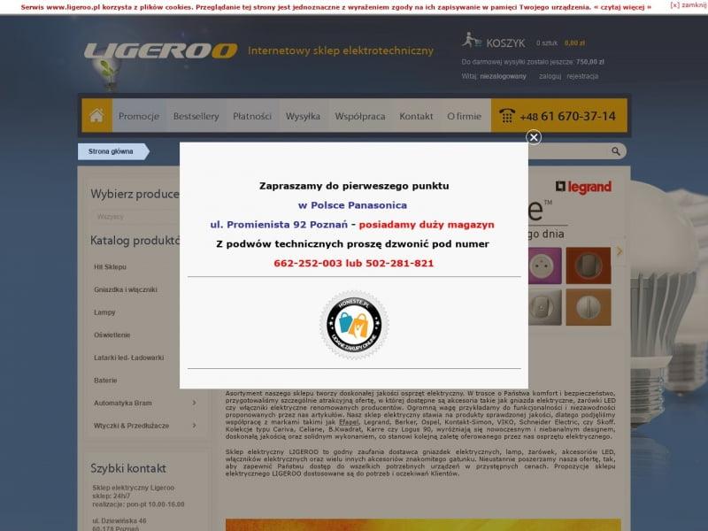 Ligeroo - Osprzęt elektryczny