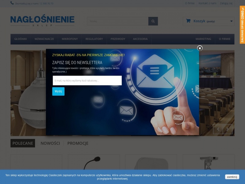 Naglosnienie-sklep.pl - sklep z nagłośnieniem