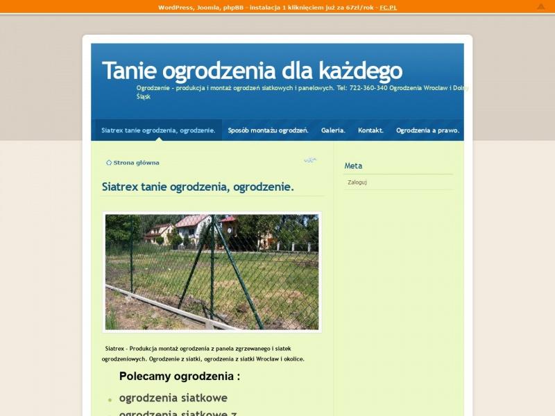 Siatrex - produkcja i montaż ogrodzeń siatkowych.