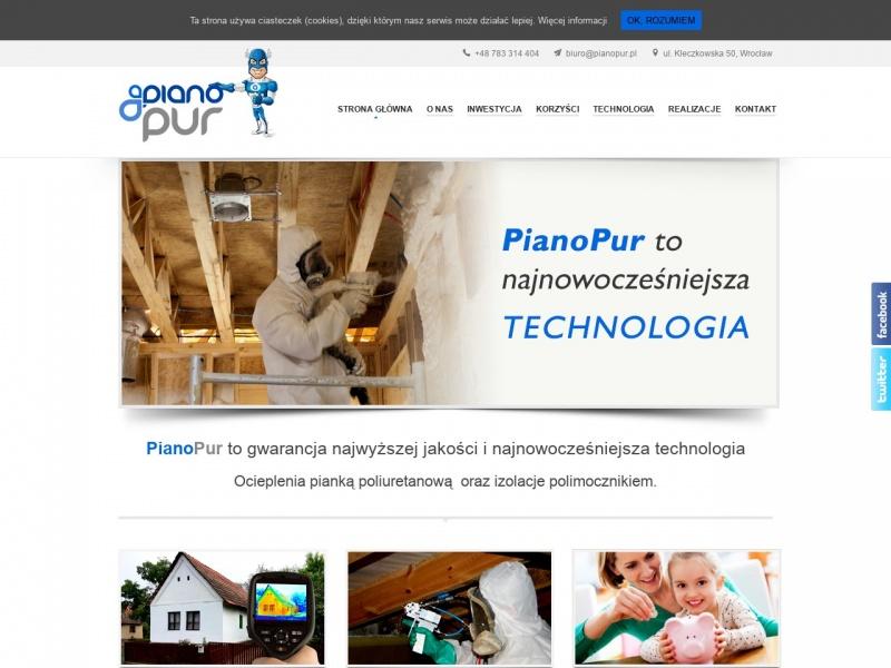 PianoPur ocieplanie budynków