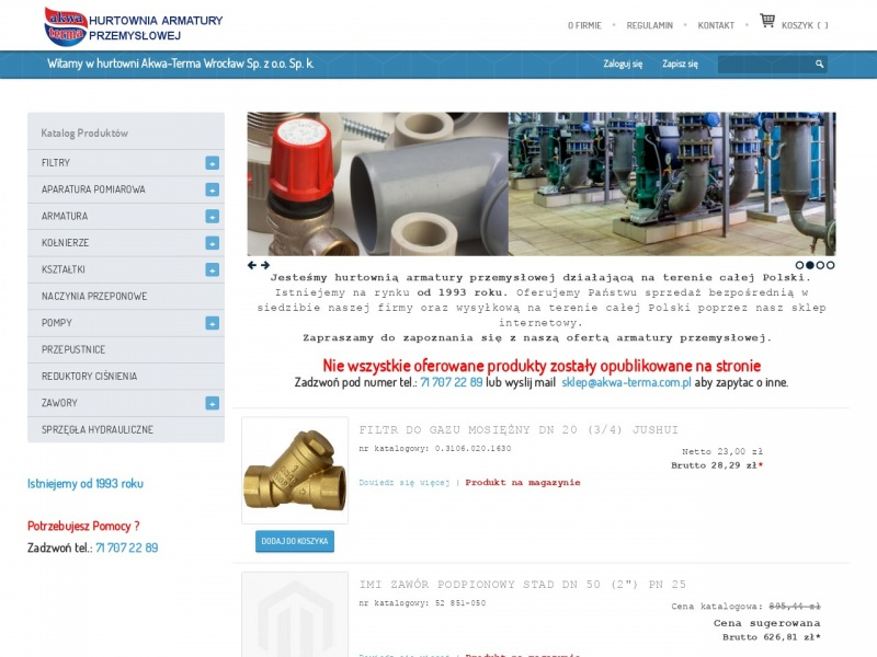Akwa Terma - Armatura przemysłowa