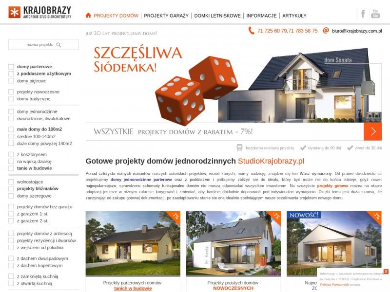 KRAJOBRAZY projekty domów