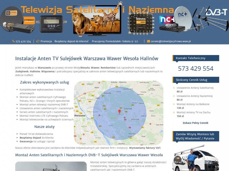 Montaż i serwis anten Warszawa