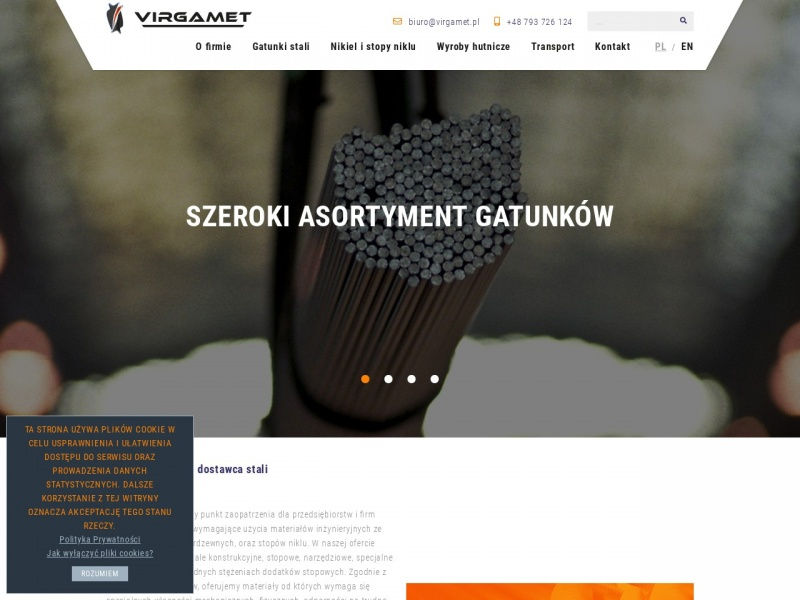 VIRGAMET - stale maszynowe i żaroodporne