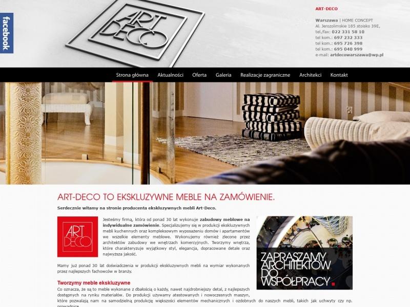 Art-Deco Ekskluzywne meble na wymiar Warszawa