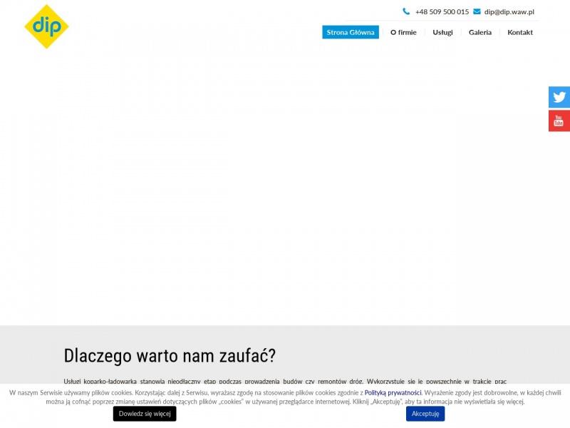 Dip.waw.pl - wynajem maszyn budowlanych