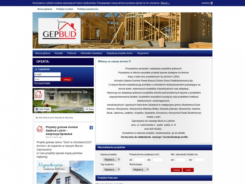 B.U.W.B.GEPBUD-Projekty budynków mieszkalnych