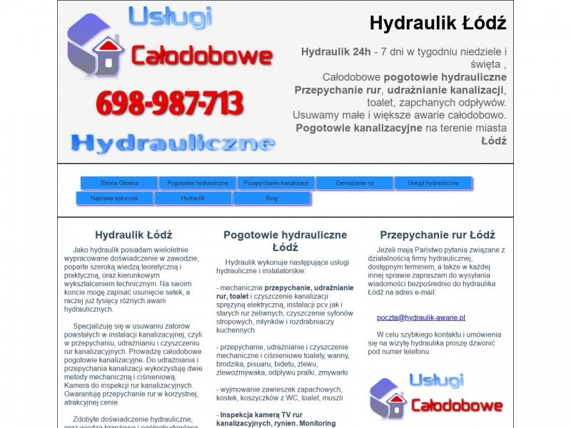 Usługi hydrauliczne Łódź