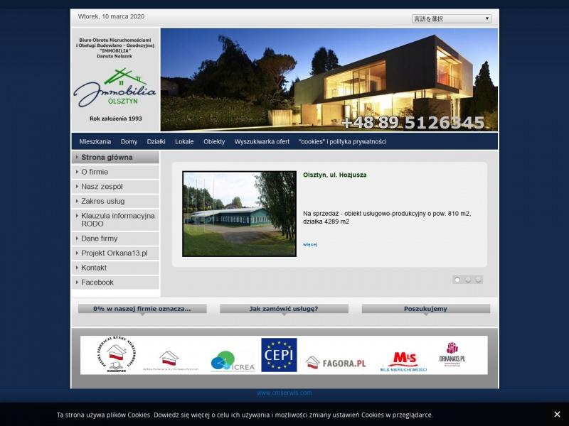 Immobilia - Biuro nieruchomości Olsztyn