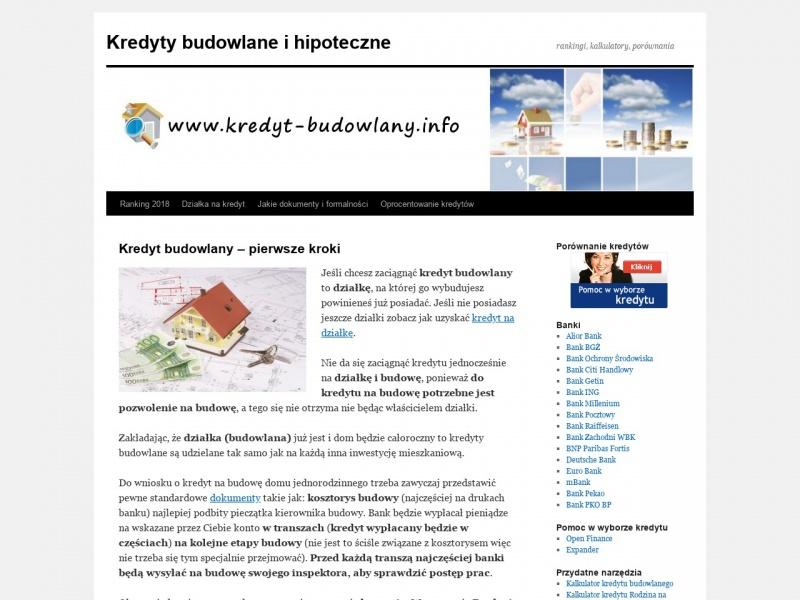 Kredyt budowlany