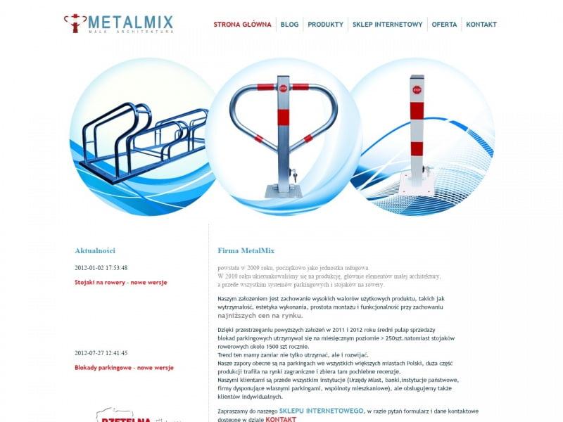 MetalMix producent blokad parkingowych i stojaków na rowery