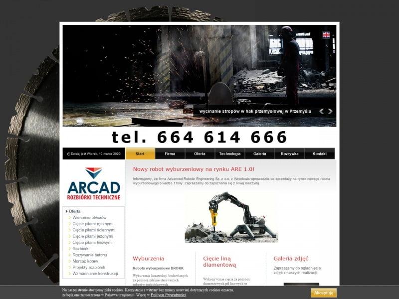 Arcad - rozbiórki techniczne