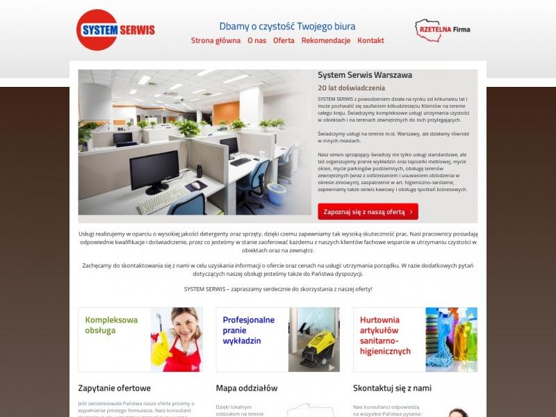 """Sprzątanie firm """"System Serwis"""" z Warszawy"""