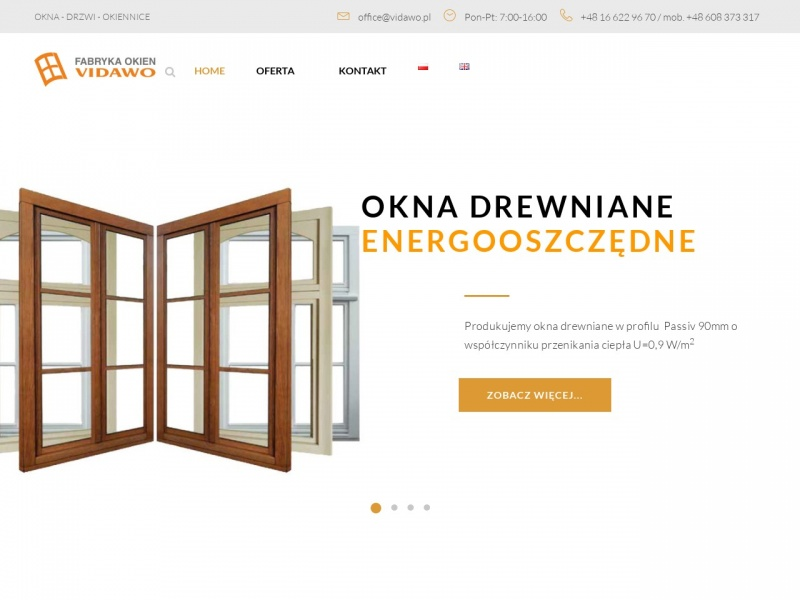 Vidawo.pl - Komfortowe Okna Drewniane