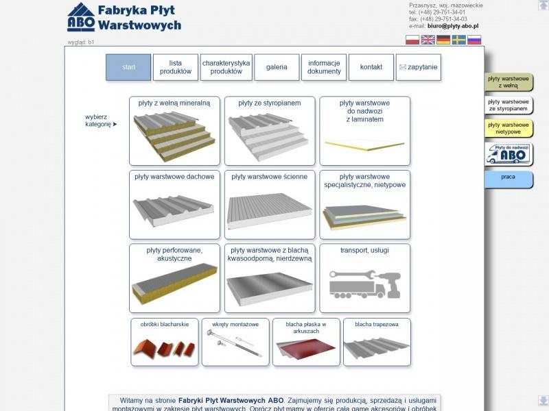 Płyty warstwowe ABO - elewacje i pokrycia dachowe.